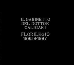 l Gabinetto del Dr. Caligari - Florilegio